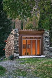 small cabin built into the hillside cabins pinterest tiny