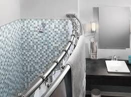 Angled Shower Curtain Rod Amazon Com Moen Sr2201ch Shower Ring Chrome Home Improvement