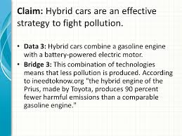 Claim  Hybrid cars are an effective strategy to fight pollution