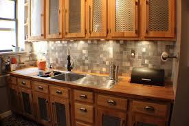 Aluminum Kitchen Backsplash Recycled Metal Tile Gallery Eco Friendly Flooring