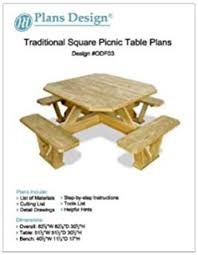Plans To Build A Picnic Table Bench by Amazon Com Woodworkersworkshop Woodworking Plan To Build A