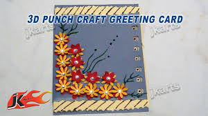 diy easy punch craft christmas card how to make project