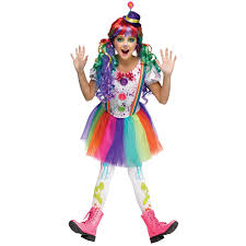 kids crazy color clown costume buycostumes com