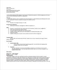 Senior Hr Manager Resume Sample by Sample Office Manager Resume 8 Examples In Word Pdf