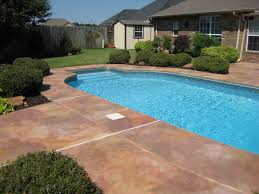 Backyard Cement Patio Ideas by 22 Best Staining Around Pools Images On Pinterest Concrete Pool