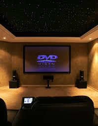 chicago home theater installation basement media room with black ceiling basement home office