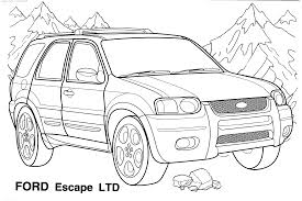 Old Ford Truck Coloring Pages - car coloring pages coloring kids