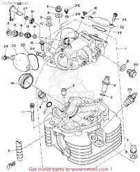 yamaha sr500 1981 usa cylinder head schematic partsfiche