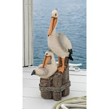 Outdoor Nautical Decor by Pelican Statue Nautical Yard Decor Whyrll Com