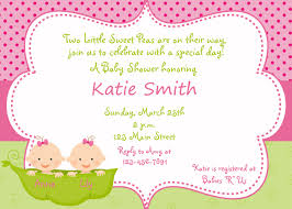 Baby Shower Invitation Cards Templates Twins Baby Shower Invitations Marialonghi Com