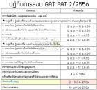 กำหนดการ และตารางสอบ GAT/PAT ครั้งที่ 2/2556