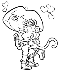 thanksgiving coloring books dora the explorer thanksgiving coloring pages 1 olegandreev me