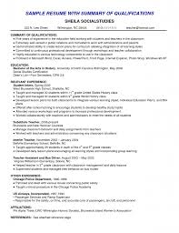 Executive Summary Resume Example Template Resume Summary Examples For Resume