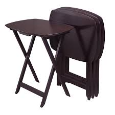 amazon com winsome wood tv table dark espresso finish set of 4