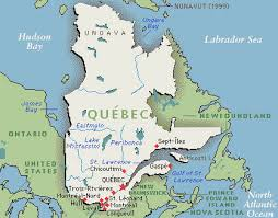 Detailed Map of Québec, Canada