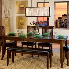 furniture magnificent dining room tables bench table excellent