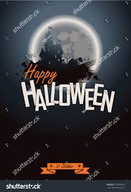 scary moon background halloween party poster happy holiday background stock vector