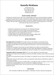 Resume Examples For Food Service by Professional Franchise Owner Templates To Showcase Your Talent