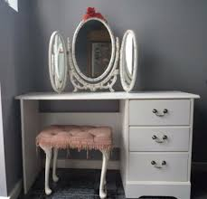 White Shabby Chic Dressing Table by A White Shabby Chic Dressing Table Set With Stool And 3 Sided