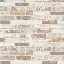 Kitchen Wallpaper Backsplash Erismann Brix Brick Wall Effect Embossed Textured Wallpaper 6703