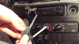 how to remove and replace a car stereo radio panasonic youtube