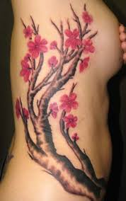 Cherry Blossom Tattoo Designs With Image Female Tattoo With Japanese Cherry Blossom Tattoo On The Side Body Picture 7