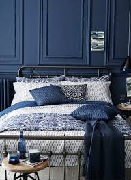 beautiful blue bedroom design with paneled walls wall panels