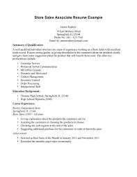 Retail Sales Resume Sample Retail Sales Resume Sample