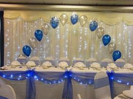 Silver Centerpieces For Table Make A Beautiful Head Table With Swags And Bows With Lights Get