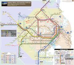 Metro Lines Map by Sydney Metro Map Johomaps