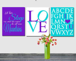 Teal And Purple Bedroom by Purple Teal Decor Etsy