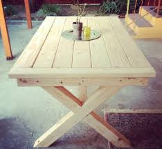 Free Wooden Picnic Table Plans by Free Diy Furniture Plans Outdoor Toscana Table The Design