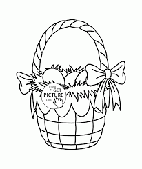 easter basket eggs coloring page for kids coloring pages