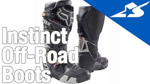 fox instinct motocross boots instinct off road boots by fox motorcycle superstore youtube