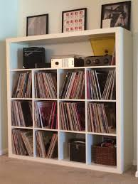 ikea media center hack ikea expedit record storage hack around the house pinterest