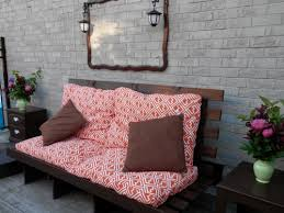 old futon frame weatherproof spray paint and outdoor cushions