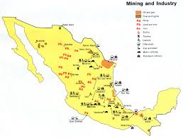 Mexico Cities Map by Resources Mexico Minerals And Industry Map Project Links