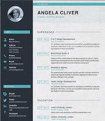Most Creative CV Resumes   Examples Templates  amp  Tutorials     Oppten co Creative Job Resume Template   professional resume templates