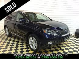 lexus uk rx used lexus rx 450h 3 5 se l premier 5dr cvt auto for sale in