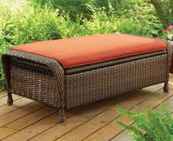 footstool and ottoman outdoor patio wicker storage seat cushion