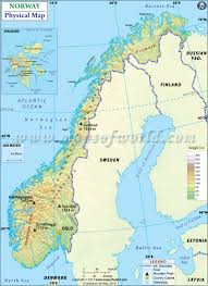 Physical Map Of South America by Map Of Norway