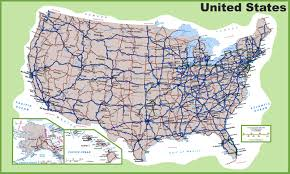 Big Map Of The United States by Usa Road Map