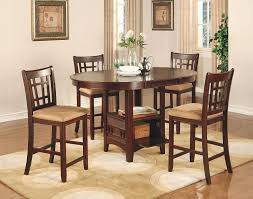 Counter Height Dining Room Tables by Amazon Com Coaster Lavon 5 Piece Counter Table And Chair Set In