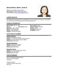 Job Resume Malaysia by Sample Of Simple Resume In Malaysia Augustais