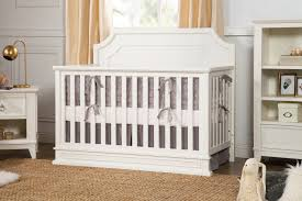 White Convertable Crib by Emma Regency 4 In 1 Convertible Crib In Warm White Million
