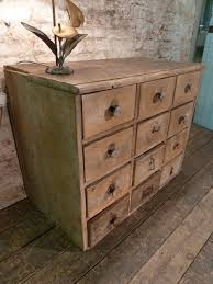 Pine Drawers 19th Century Pine Rustic French Industrial Drawers Vintage