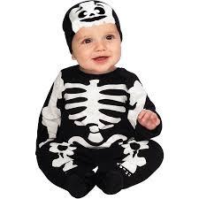 Baby Halloween Costumes Walmart Black White Skeleton Infant Jumper Halloween Costume Walmart