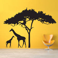 Bedroom Wall Decals Trees What Could Be Sweeter Than A Mother Giraffe And Her Baby To