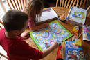 kids playing board games clip art