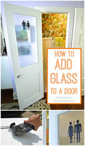 vintage office door with frosted glass remodelaholic how to add a glass pane to a wood door